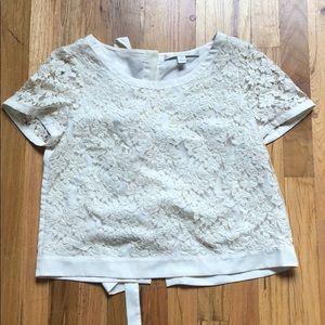 Lauren Conrad tie back lace top